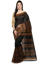 Yadu Nandan Fashions Cotton Silk Saree(28661_Black_Free Size)