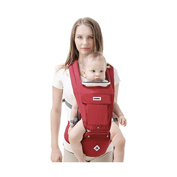 Rufun Baby Carrier Hip Seat Ergonomic Storage Box for Newborn Front and Back Breastfeeding Handsfree 0-48 Months up to 25kg Rufun 【Designed for Baby's Safety】Ergonomic baby carrier is all parents' pursue. The hip seat is designed according to baby's develoment. 【Can be a Storage Box】With the hollowed-out structure, our sturdy hip seat can be used as a storage box and the baby won't feel muggy sitting on it. 【Newly Designed Hip Seat】Our seat is made of eco-friendly PP (Polypropylene), no smell and in hollowed-out structure. 1