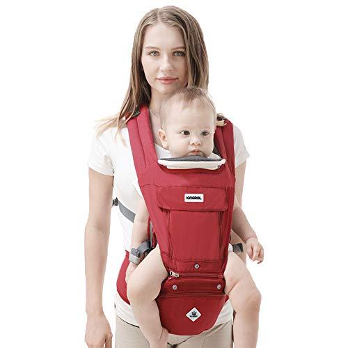 Rufun Babyrückentragen Hip Sitz Ergonomischer Aufbewahrungsbehälter für Neugeborene Front und Rückseite Stillen freihändig 0-48 Monate bis 25kg