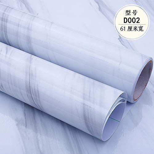 lsaiyy PVC Marmor Muster 3D Tapete selbstklebend dick wasserdicht und ölbeständig Tapete Möbel Renovierung Tapete-61CMX5M
