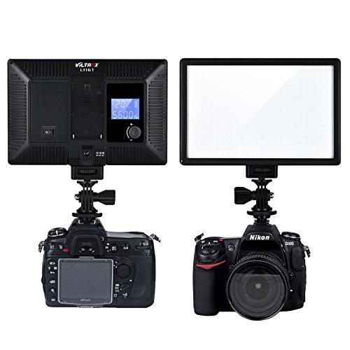 VILTROX® L116T Dimmbar LED-Videoleuchte 3300K-5600k Farbtemperatur Studioleuchte Fotoleuchte für DSLR Kameras und Videokameras (ohne Batterie) Fotografie-kamera