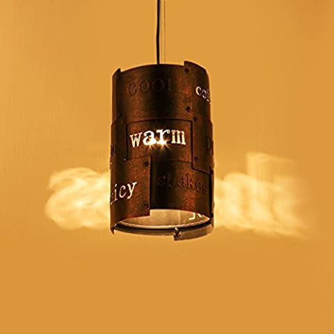 MILUCE Industrial Fountain Creative Creative Lifestyle Restaurant Lights Vintage Cafe Chandelier ( Color : Brown