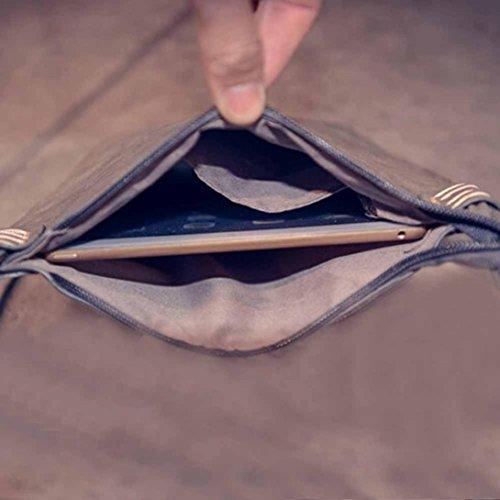 Igemy Mode Frauen Leder Handtasche Crossbody Schulter Messenger Telefon Münze Tasche Gray