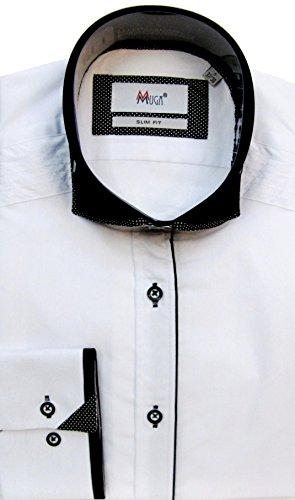 MUGA Homme Chemise Button-down Cintreé Noir
