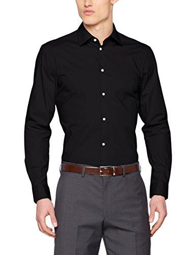 ESPRIT Collection Herren Businesshemd Schwarz (Black 001)