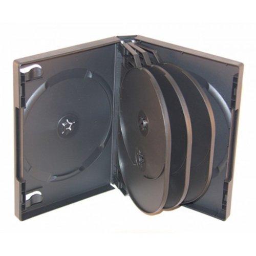 10 XLayer 8fach 8er DVD CD Box Hüllen black