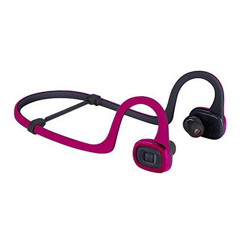 ILE Altavoces Bluetooth inalámbricos Sweat audífonos deportivos de ajuste seguro bajo mejorado para iPhone, iPad, Samsung y otros dispositivos Bluetooth con micrófono Rojo