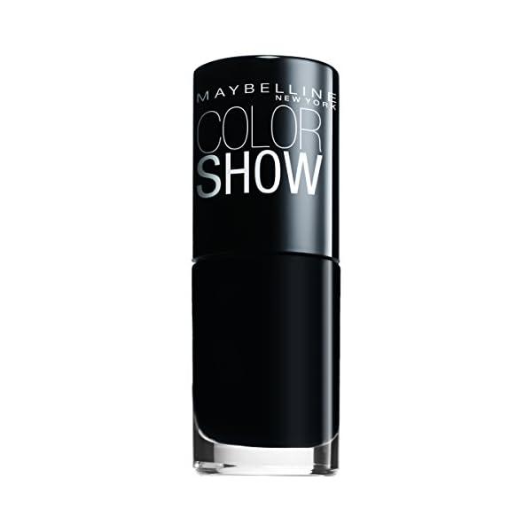 Maybelline New York Color Show Esmalte de Uñas, Tono: Color Show 677 Blackout