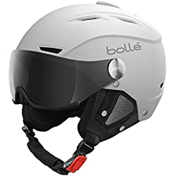 Bollé Helmet Backline Visor Soft with 1 Gun + 1 Lemon - Casco de esquí, color blanco, talla 59-61 cm