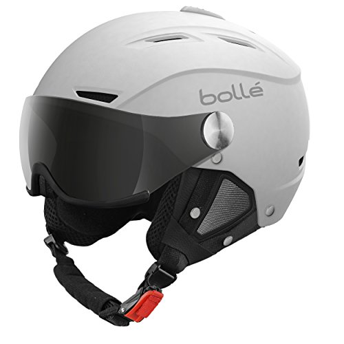 Bollé Skihelm Backline Visor Soft With 1 Gun und Lemon White 56-58 cm
