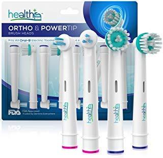Oral-B kompatible, generische Kieferorthopädie- und Energiespitzen-Ersatzköpfe für Oral-B elektrische Zahnbürste | 8-er Packung Bürstenköpfe mit DuPont Borsten für Zahnspangen