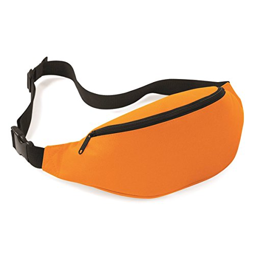 Gürteltasche von BagBase mit Reissverschluss in 7 Farben SCHWARZ Orange