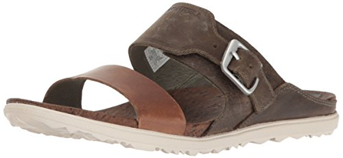 Merrell Vesper Damen-Sandalen, flach, Gitter-Design, Grün - Vertiver - Größe: 42 EU -