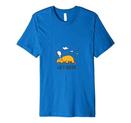 Faules Queen Kitty Cat Cooles Statement-Grafik-T-Shirt