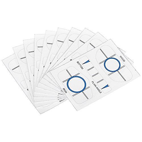 Eisen-satz (Lixada 10 Sätze Golf Impact Tapes 10 Stück für Holz, 10 Stück für Eisen, 10 Stück für Putter.)