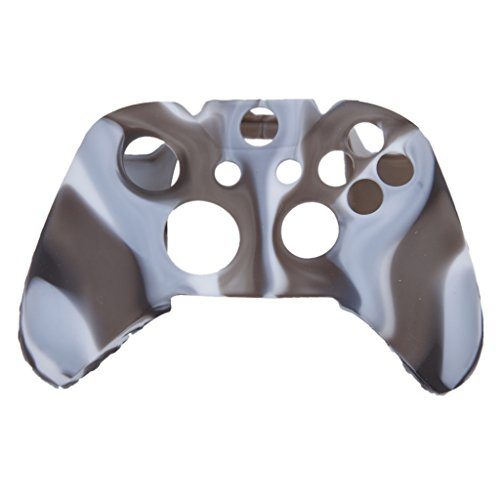 Skin Camo Soft Silikon Schutzhülle für XBOX ONE Spiel Controller - Grau mit - Wireless Controller Xbox Camo 360