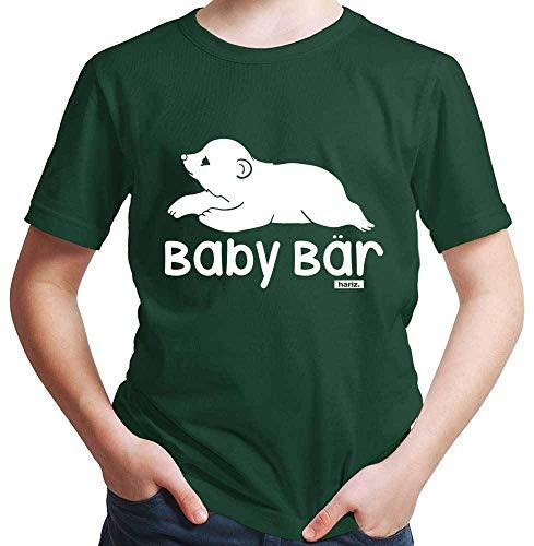 HARIZ Jungen T-Shirt Baby Bär Süß Tiere Dschungel Inkl. Geschenk Karte Dunkel Grün 152/12-13 Jahre -
