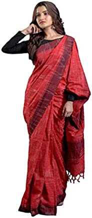 Women's Khadi Cotton Saree With Blouse Piece (BD 26_