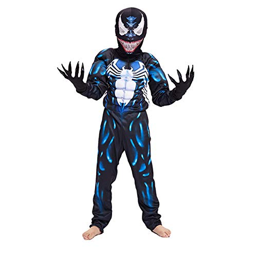 nd Superhelden Kostüme Kinder,Halloween Kostüm,Fancy Kleid Kostüm,4-10,Deluxe Enfant Costume,Blue-L ()