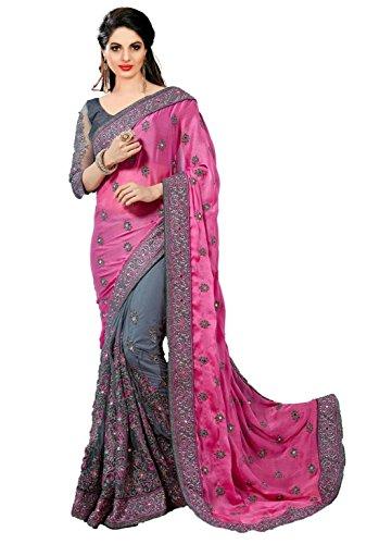 Jesti Designer Women's Georgette &Net saree for women New Collection 2018 with...