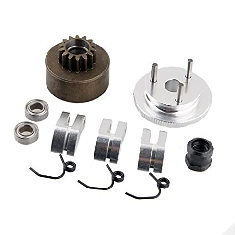 RC Clutch Bell 14T Gear Flywheel Assembly & Shoe Springs Nitro Engine Motor For Redcat HSP BAZOOKA 1:8 Buggy Upgrade Part 81020