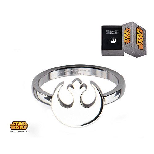 Star Wars: Rebel Alliance-Anello donna & Jewelry Box, Acciaio inossidabile, 19,5, cod. SalesOne_SW_SWRSFR02_Size9_12