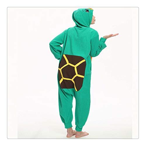 gurumi Pajamas for Adult Fleece Onesie One-Piece Jumpsuit Animal Sleepwear for Pyjamas Christmas Costume Turtle Onesie L ()