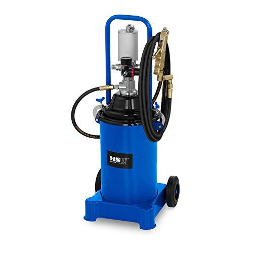 MSW Pompe À Graisse Pneumatique Professionnelle Appareil Graissage Lubrification Pro-G 12M (12 L, 300-400 Bars, Compression 50:1, Débit 0,85 l/Min)