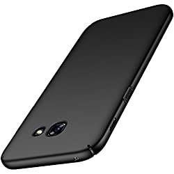 anccer Coque Samsung Galaxy A5 2017 [Serie Mat] Resilient Conception Ultra Mince et Absorption des Chocs Coque pour Samsung Galaxy A5 2017 (Noir Lisse)