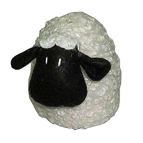 Grande Heavy Cute Widdop en forme de mouton Style Tissu Butée de porte anti-rayures Motif sable garni Tissu lourd Arrêt de porte Stopper Animal Peluche. EWAN Agneau Tissu Porte cales. Le complément Attrayant pour n'importe quelle pièce. Peut être utilisé comme un bouchon, Wedge ou Poids