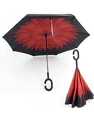 RAIN QUEEN Regenschirm Schirm Double Layer Rückseite Outdoor UV-Schutz windundurchlässiger 105cm