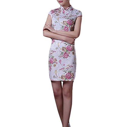 Elegantes Cheongsam Kleid-Mandarine-Kragen-chinesisches Kleid Qipao Seitenschlitz-Kleid
