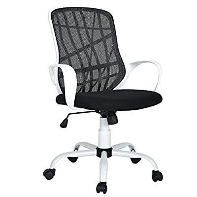 Aingoo Office Task Chair Mesh Swivel Computer Desk Chair Lumbar Support with Arms - inexpensive UK light shop.