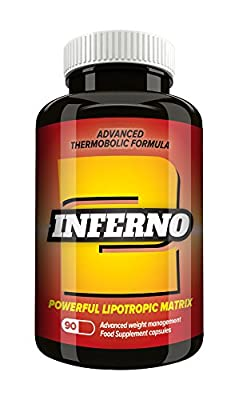 Inferno 2 Fat Burner - Potent Slimming Formula for Men and Women - Advanced Thermogenic Weight Loss Formula - T5 Alternative
