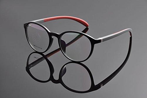 De Ding - Monture de lunettes - Femme - Noir/rouge