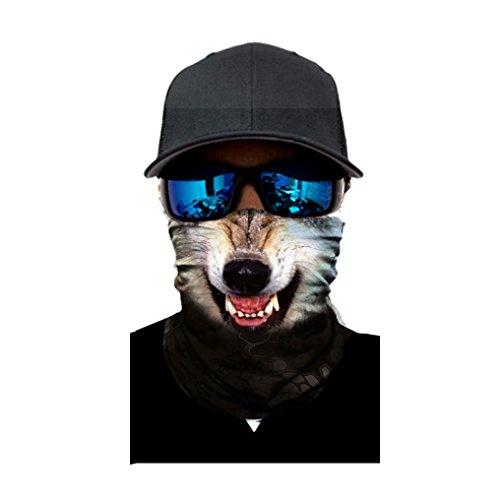 Kxnet Nahtlos Atmungs Motorrad Biker Snowboards Halb Gesichtsaske,Tiergesicht Radfahren Gesichtsmaske,Staubschutz für Outdoor Trekking Skateboarden (A)