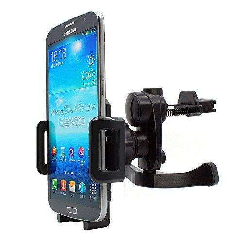mobilefox® 360° KFZ Lüftungs Handy Halterung für Samsung Galaxy J1/J3/J5/J7/A3/A5/A7 Schwarz - Auto Lüftungs Gitter Halter
