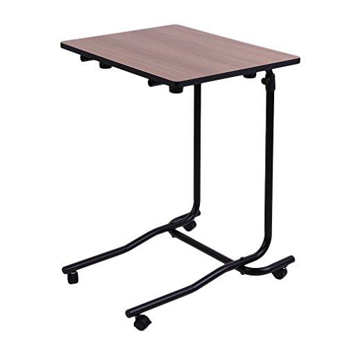 homgrace Nachttisch Verstellbare Computer-Schreibtisch Tabelle 2Rollen Kippen Top Mehrzweck verstellbar Tisch Schreibtisch -