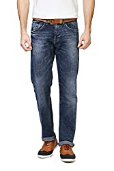 Allen Solly Mens Slim Fit Jeans (8907467323210_ALDN316J04268_36W x 33L_Medium Blue Solid)