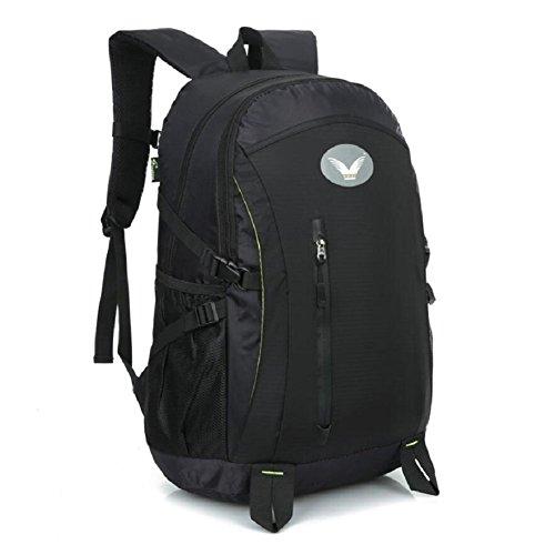 LJ&L Outdoor hochwertiger Bergsteiger-Rucksack, Nylon wasserdichter praktischer Verschleiß-resistenter Wanderrucksack, Männer und Frauen gebräuchlicher hochwertiger Rucksack A