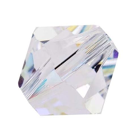 SWAROVSKI ELEMENTS Crystal #5328 Bicone 10mm Crystal AB Beads