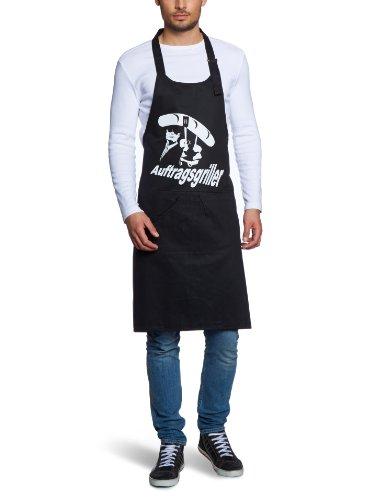 Preisvergleich Produktbild Coole-Fun-T-Shirts Herren Grillschürze AUFTRAGSGRILLER - BBQ GRILLSPORT,  schwarz,  10710-schwarz-weiss-Schuerze