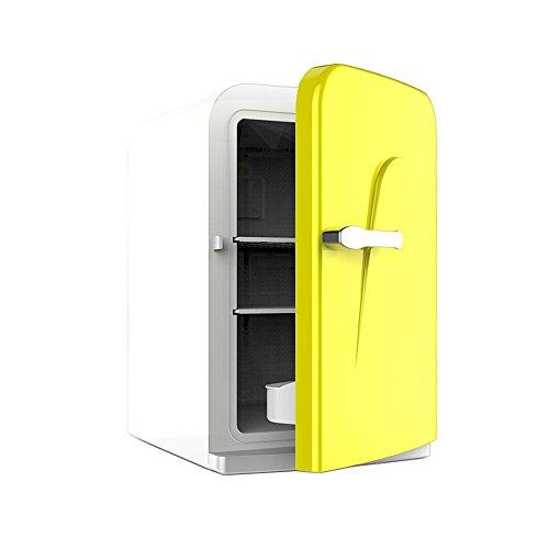 RY Auto Kühlschrank - Micro Kühlschrank Auto Kühlschrank 16L Kleine Gefrierschrank Portable Cold Box Student Schlafsaal Kühlschrank Mini Gefrierschrank (Farbe : Gelb)