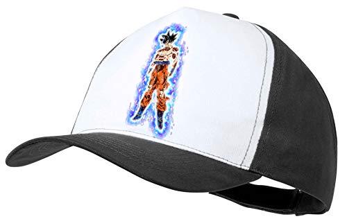 MERCHANDMANIA Gorra Negra Goku Ultra Instinto Aura Fuerza Color Cap