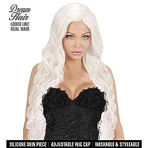 WIDMANN 02074espirales de pelo peluca Drea mhair, mujer, color blanco, talla única