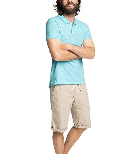 ESPRIT Herren Poloshirt 056ee2k044 Blau (LIGHT AQUA GREEN 390)