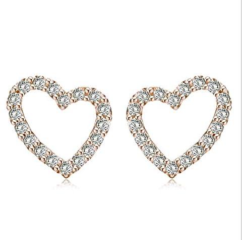 Fashion 925 Sterling Silver Earrings Fresh Heart-shaped Earrings Female Anti-allergic Jewelry For Women And
