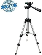 king shine Portable 105cm 4 Section Adjustable 3 Way Pan and Tilt Tripod for DSLR, Mobile and Go Pro Action Camera - Assorted