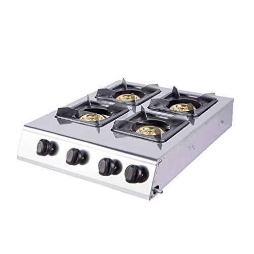 YXS Cooktop Hebt Stovetop Herd, 18,5 Zoll, 4 Versiegelte Brenner, Brenner Erdgas Bereich - Restaurant Ausrüstung für Suppen, Saucen, leicht zu reinigen, hohe Leistung, Gute Qualität -