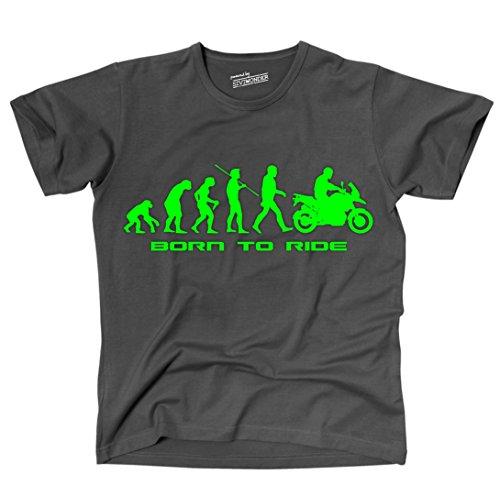 Siviwonder Unisex T-Shirt SCHNABELTIER EVOLUTION Motorrad lustig Sprüche dark grey XXL (Lustige T-shirts Motorrad)
